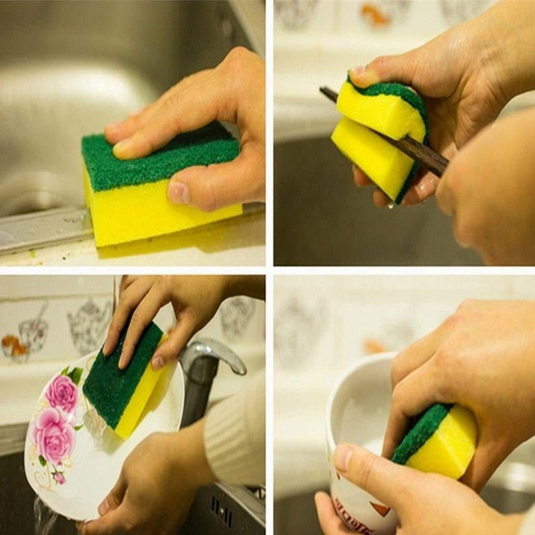 pioleUK /Éponge /à Vaisselle Forte Forte /à Double Couche dabsorption deau Forte de Cuisine /à la Maison Eponges