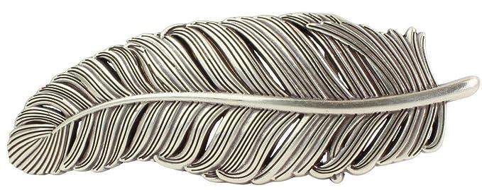b5580d272e2e97 Gürtelschnalle Grand Feder 4,0 cm | Buckle Wechselschließe Gürtelschließe  40mm Massiv | Für Wechselgürtel