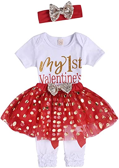 3M-24M ✦Baby Girls Skirt Sets,One Letter Print Cotton T-Shirt+Tutu Lace Tulle Princess Dress residentD