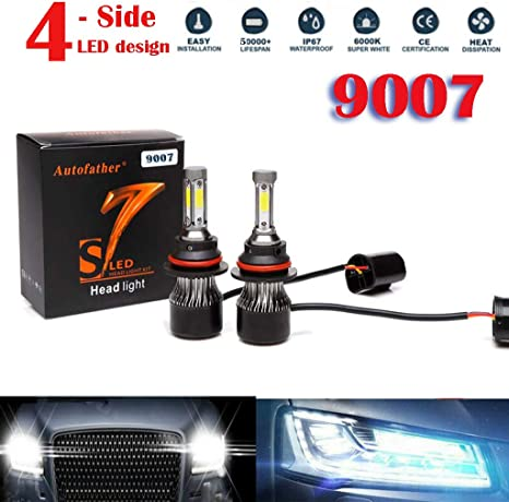 2x  Xenon H11 LED Headlight Bulbs Combo 60W 6000LM  6000K Conversion Light