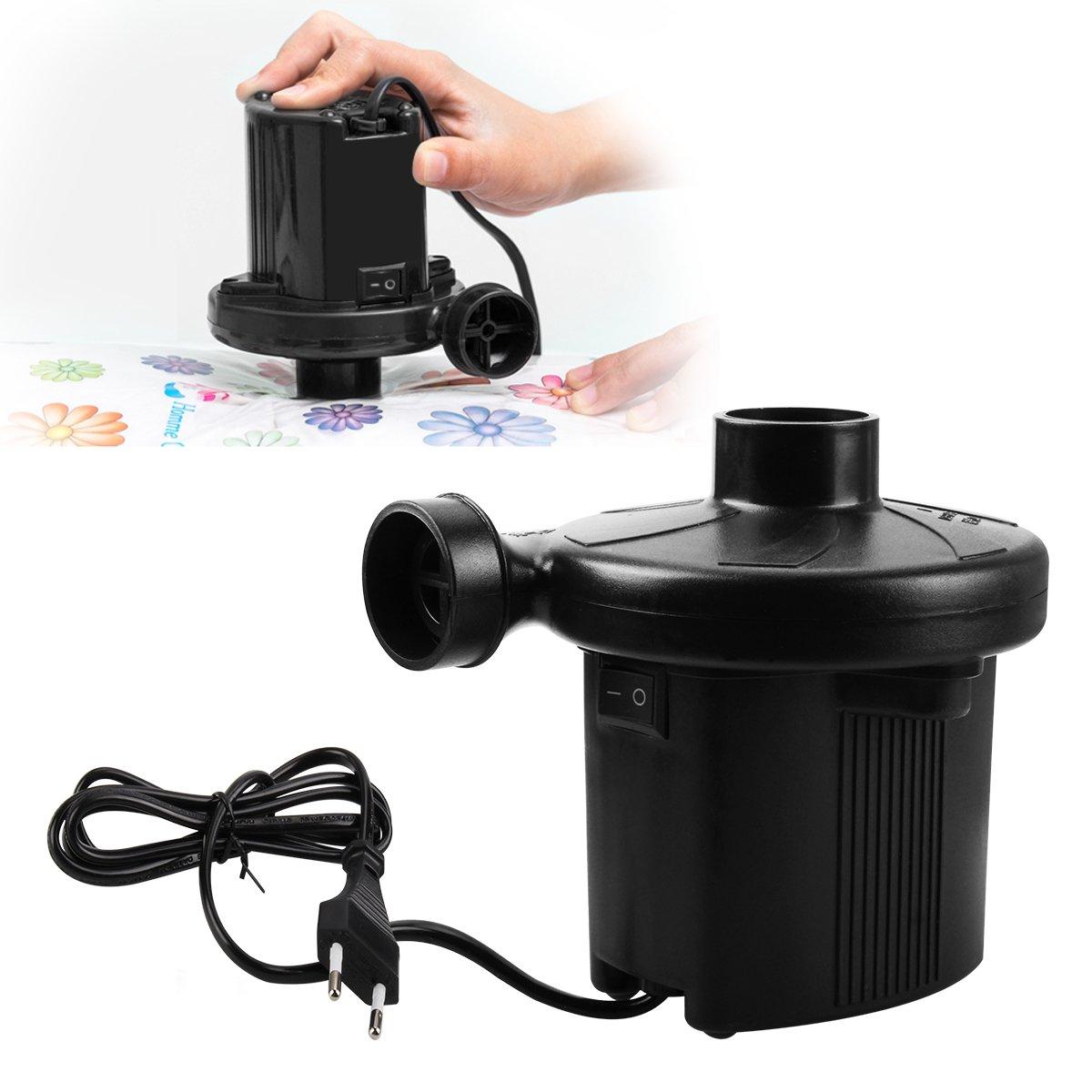los juguetes tronisky 2 en 1 Bomba el/éctrica R/ápido Hinchar y Deshinchar con 3 adaptadores de la boquilla para Colchones de Aire Colchonetas Bomba de Aire El/éctrica