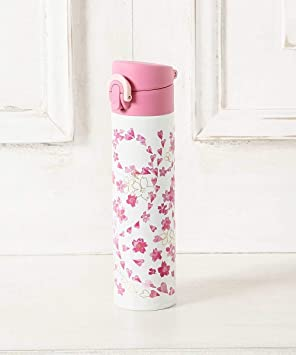 f791e2bd17378 [ アフタヌーンティー リビング ] AfternoonTea LIVING サーモス/桜柄ワンタッチスリムボトル 400ml ピンク