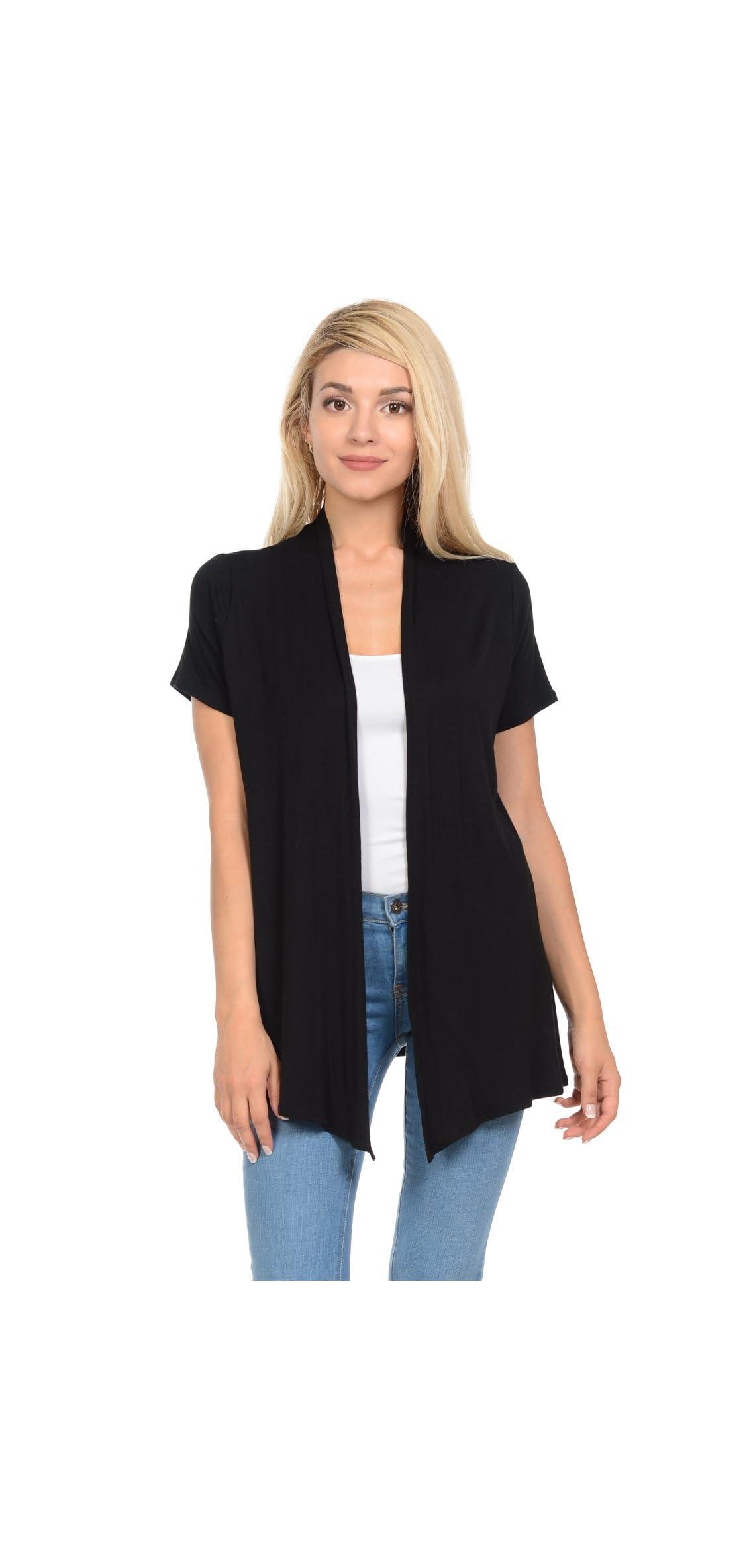 Women's Short Sleeve Open Front Vest