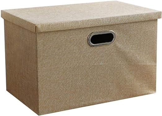 JPVGIA Caja de Almacenamiento Grande y Profunda Caja de Almacenamiento Plegable con Tapa for Ropa/Libros/Juguetes (Size : Small): Amazon.es: Hogar