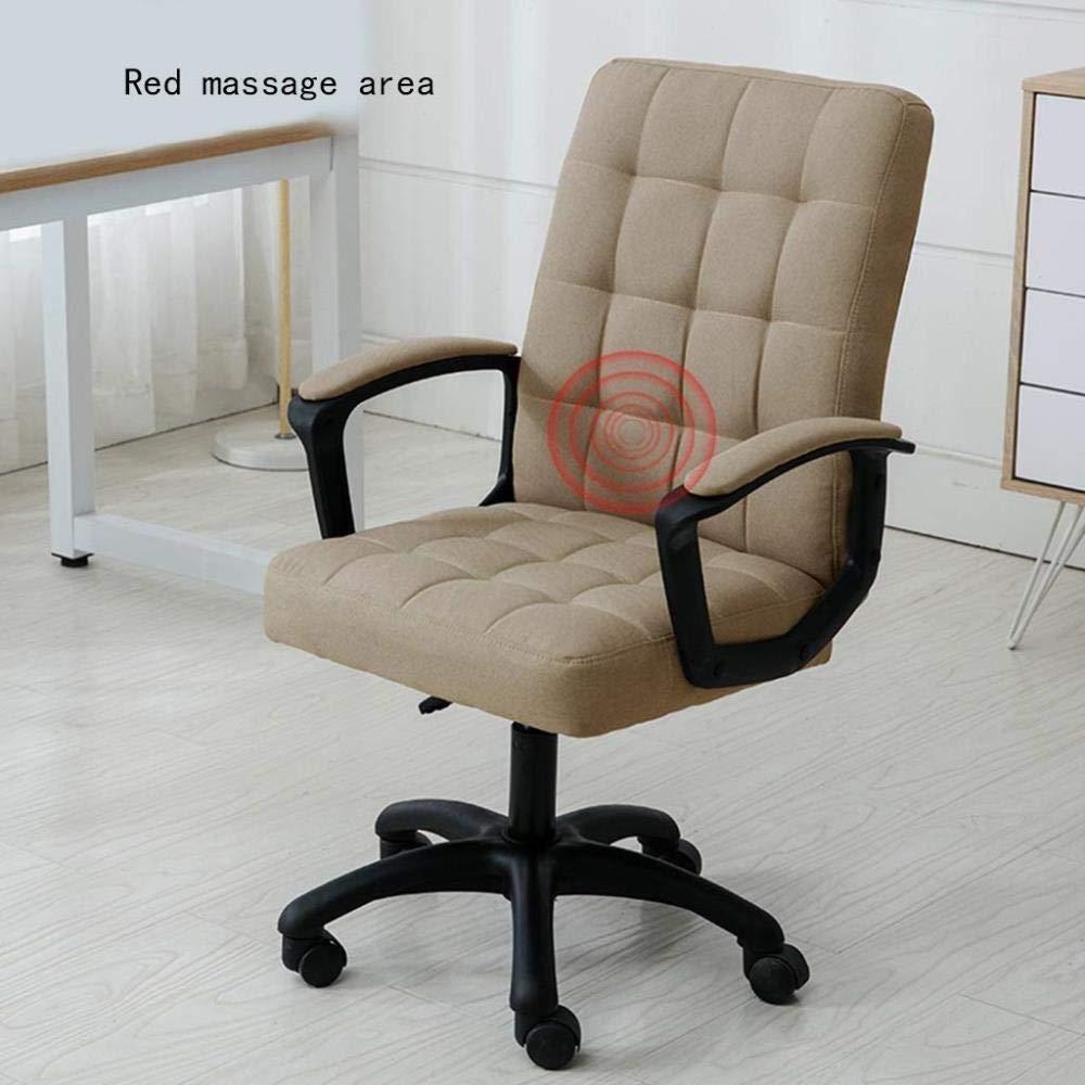 RXL bekväm kontorsstol datorstol hem bekväm kontorsstol lyft svängstol ergonomisk stol sovsal stol robust (färg: Kaki) Khaki