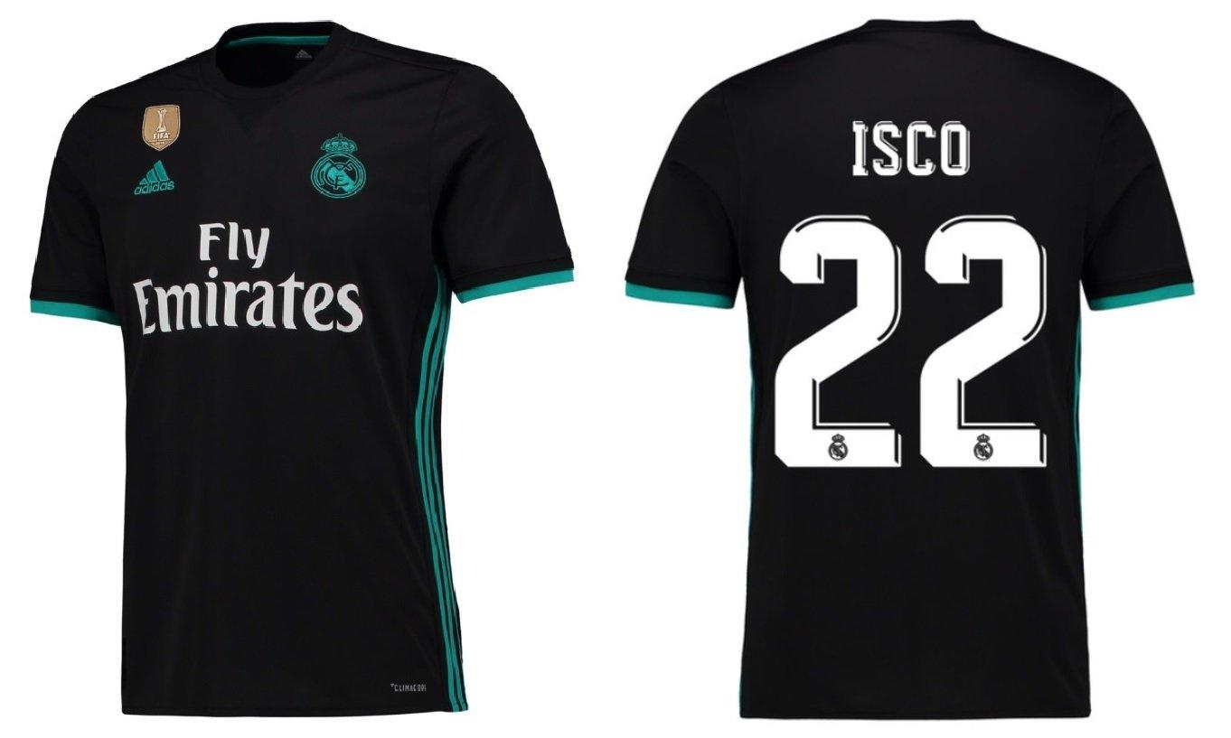 Trikot Kinder Real Madrid 2017-2018 Away WC - Isco 22