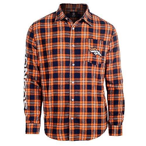 Denver Broncos Wordmark Basic Flannel Shirt Large