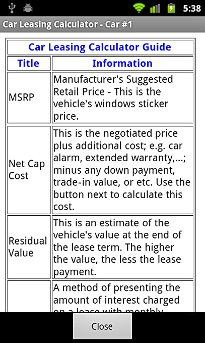 leasing calculator for cars