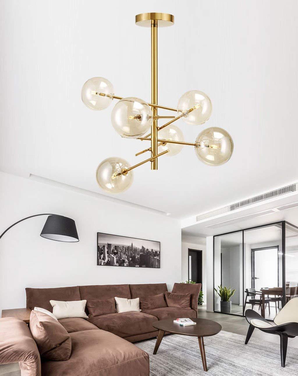AXCJ Chandelier- Modern Creative Chandelier, Dormitorio Lounge Tienda de Ropa Restaurante, Iluminación Interior.: Amazon.es: Deportes y aire libre