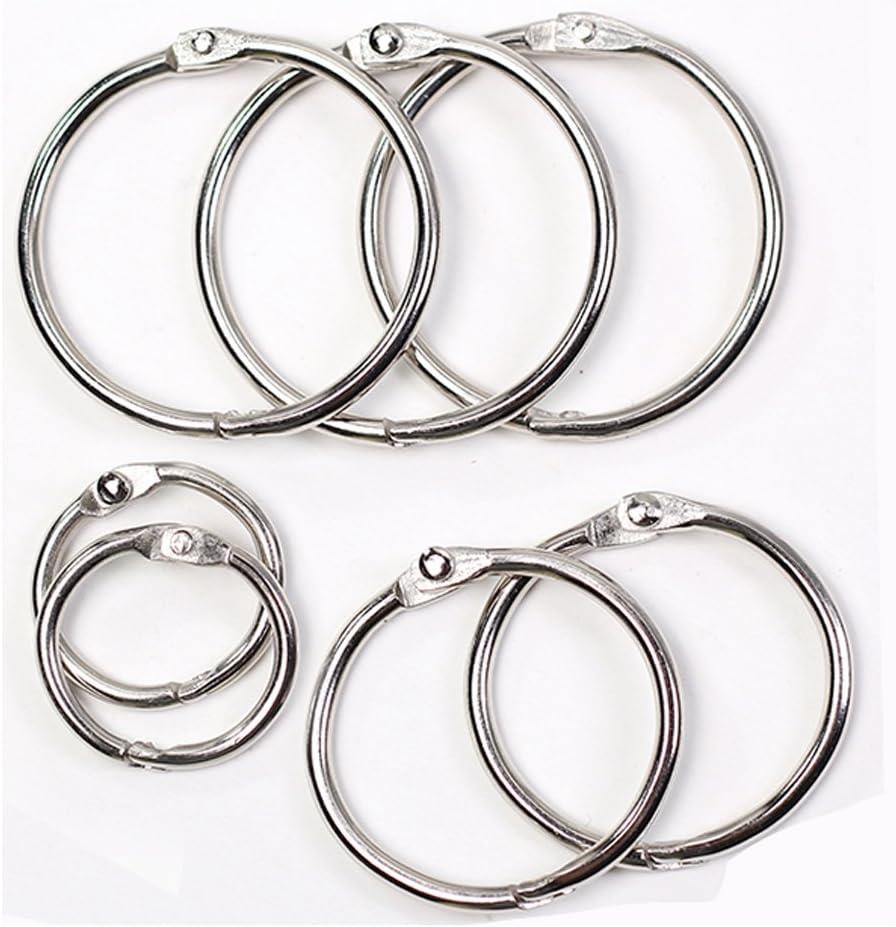 "Silver 1.5/"" Diameter Nickel Plated Business Source Standard Book Rings"