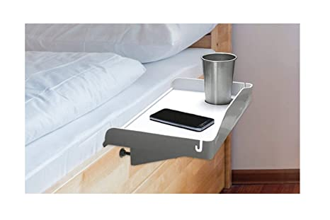 Awesome White Bedside Tray Bedside Shelf For Bed Dorm Bed Caddy With Cup Holder Cord Holder Nightstand For Students Bunk Bed Shelf For Top Bunk Download Free Architecture Designs Scobabritishbridgeorg