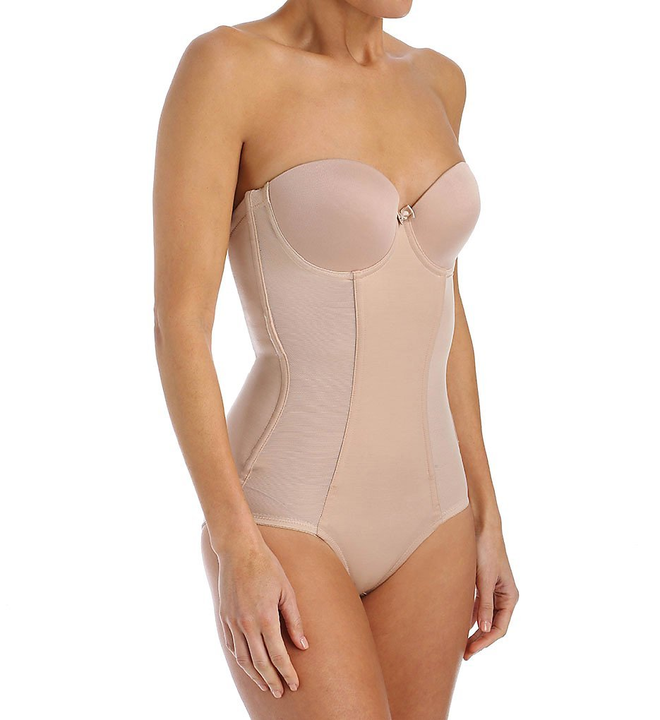 Va Bien Ultra-Lift Backless Strapless Body Briefer Style 1570 - Nude - 34F(DDD)