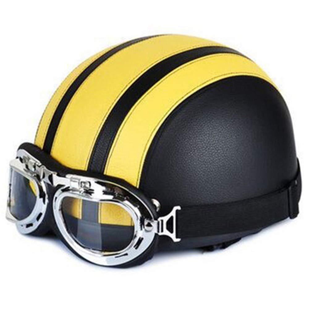 Black yellow HJOMX Helmet Bicycle Helmet Helmets Bike Bicycle Helmet Open Half Face With Visor Goggles For Men And Women Bicycle Helmet