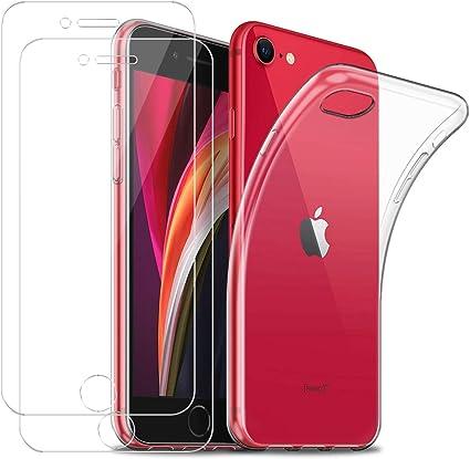 Funda para iPhone SE 2020 + [2 Pack] Cristal Templado Protector de ...
