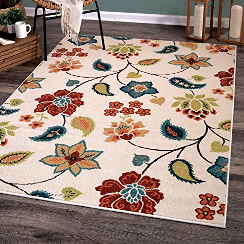 Orian Rugs 2338 Veranda Indoor/Outdoor Garden Chintz Area Rug, 5'2