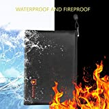 Fireproof Document Bags, A4 Size Waterproof and Fireproof Bag with Fireproof Zipper for iPad, Money, Jewelry, Passport, Document Storage