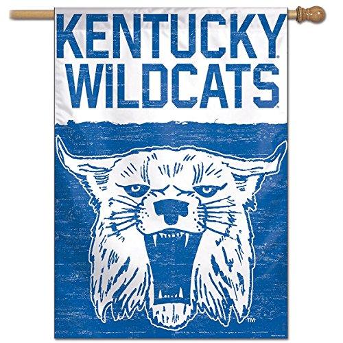 Kentucky Wildcats Vault Throwback Retro Vintage House Flag ()