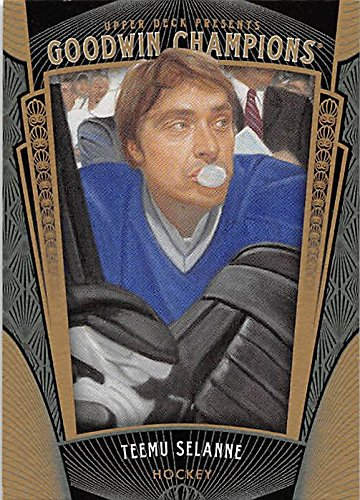 Teemu Selanne Hockey Card (Winnipeg Jets Anaheim Ducks Legend) 2015 Upper Deck Goodwin Champions #83 (Teemu Anaheim Selanne Ducks)