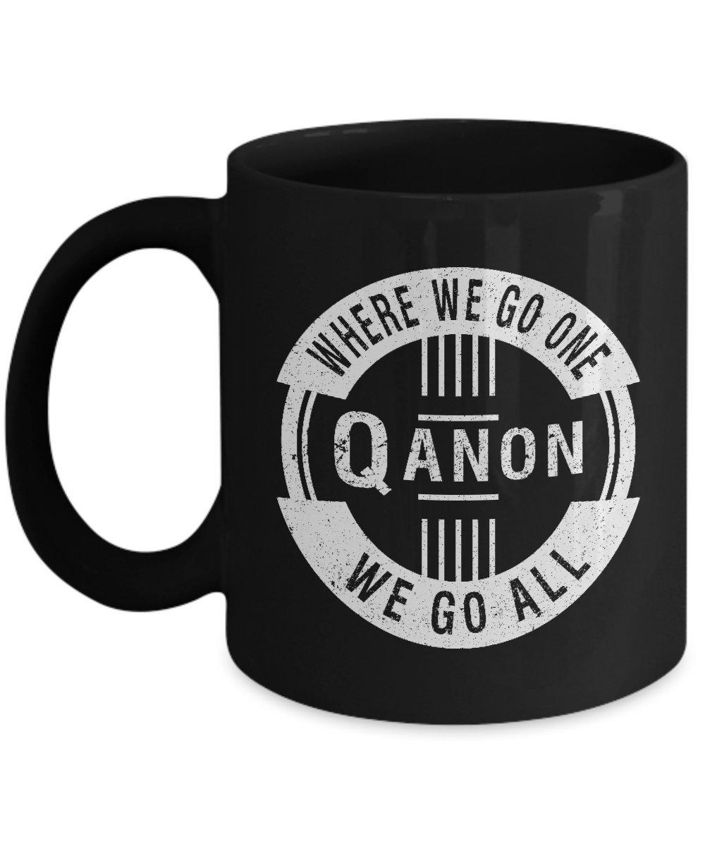 直送商品 Qanonコーヒーマグブラック – Q Anonセラミックカップ、deplorables、Conspiracy、トランプ、愛国 – Q、ギフト、愛国者、American B07C6BKRLF, 住まコレ:89bf8ad8 --- arianechie.dominiotemporario.com
