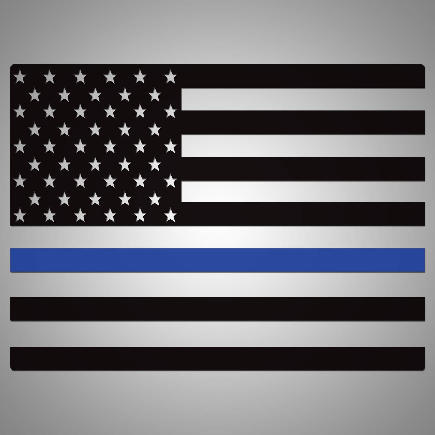 Blue Line Flag Factory Crafts Back Middle Window Rear Graphics Kit 3M Vinyl Decal Wrap Compatible with Dodge RAM 1500//2500//3500 2019-2020