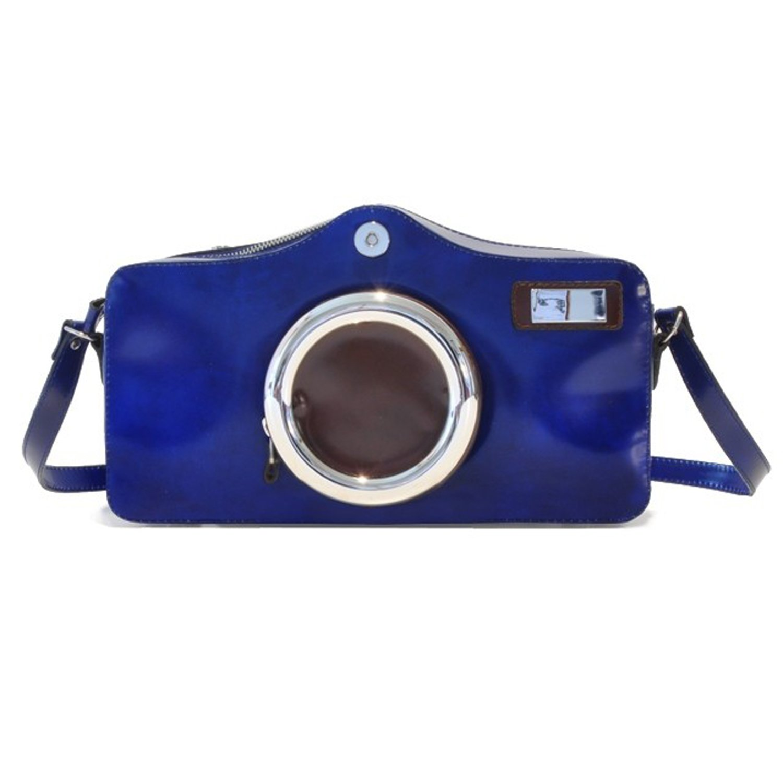 Pratesiカメラショルダーバッグ – r444 Radica  ブルー(Electric Blue) B0134Z1YOS