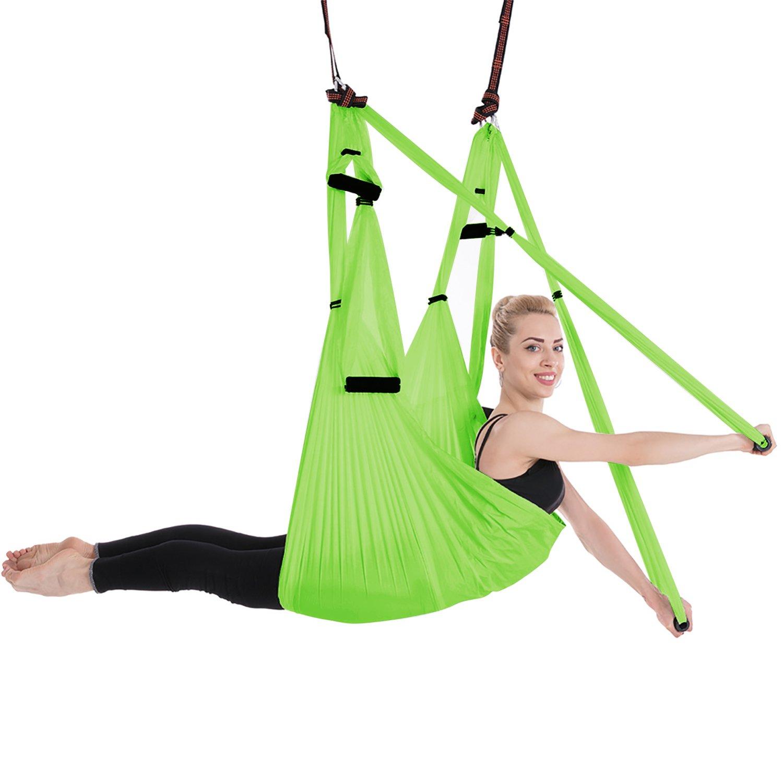 Amazon.com : FAMLOVE Aerial Yoga Hammock Trapeze Sling, Silk ...