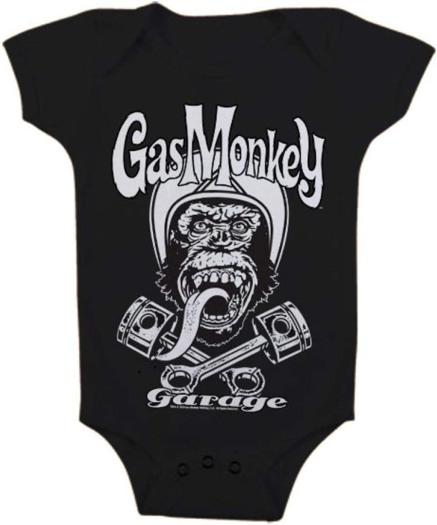 6 Month GAS MONKEY GARAGE : TShirt Baby Body Logo ML