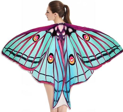 vibola toalla de playa suave tela Chal de alas de mariposa de hada ...