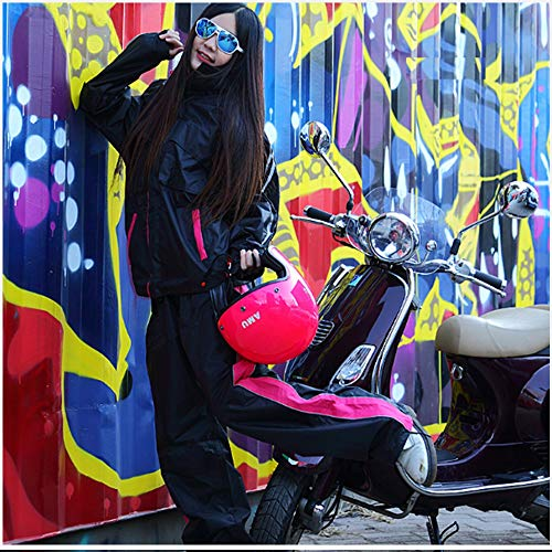 Set E Guyuan Impermeabile Riding Per Pink Donne Fuoristrada Electric Suit Xl Split Uomini Motociclisti Pink color Car Rain Pants Adulti Size Moto Sqq6Cdg
