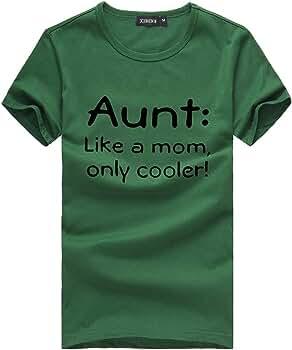 Moginp Día de la Madre Camiseta Estampado de Manga Corta Blusa Color Sólido Camisa Tops Casuales para Mujer(Ejercito Verde, XXXL): Amazon.es: Ropa y accesorios