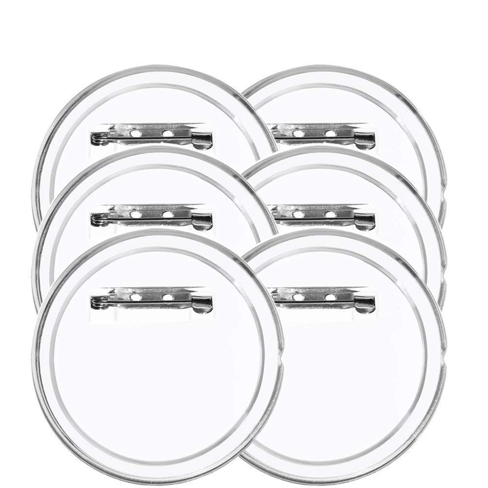 40 2.36 inch Sets Acrylic Design Button Clear Button Badges Kit with Pin for Craft Supplies or DIY Badges