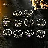 Zealmer Gudukt Knuckle Ring Set Vintage Silver
