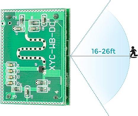 Amazon.com: whdts Detector de radar Microondas módulo de 5,8 ...