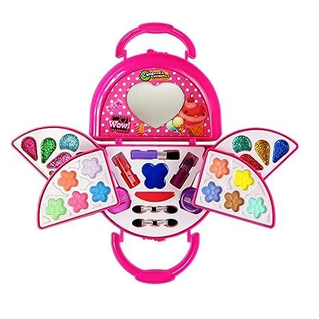 Kleine Mädchen Make-up-Set Kosmetik Beauty Spielzeug,Make up Set für Kleine Mädchen,Kinderschminkset Sicherheitsgeprüft,Ungif
