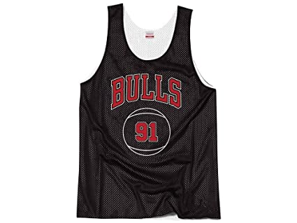 Mitchell   Ness Chicago Bulls Dennis Rodman Name Number Reversible Mesh  Tank Top (Small f911525af