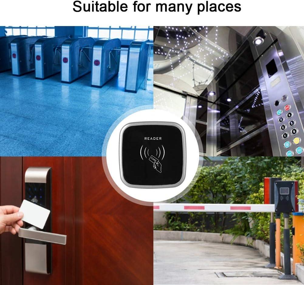 Garsent Lector de Control de Acceso de Puerta CARN/É DE Identidad 34 bits RFID 13.56MHZ IP65 Impermeable Wiegand26 125KHZ IC//ID Card Reader para Control de Acceso de Puerta