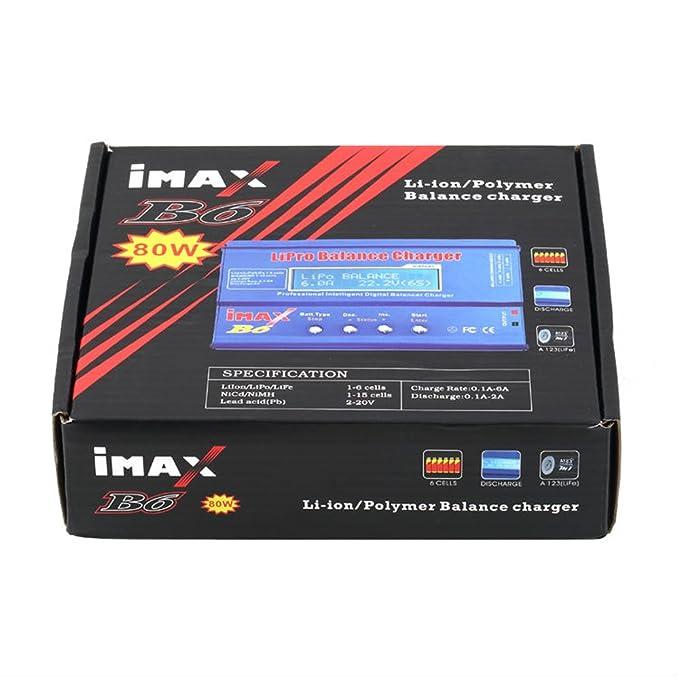 Amazon.com: Hfs nuevo Equilibrio IMAXRC IMAX B6 80 W LiPo ...