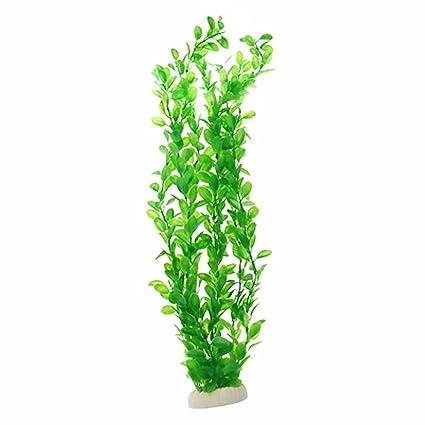 Hierba de Agua Acuario Planta Simulada Plástico Decoración Verde 50cm