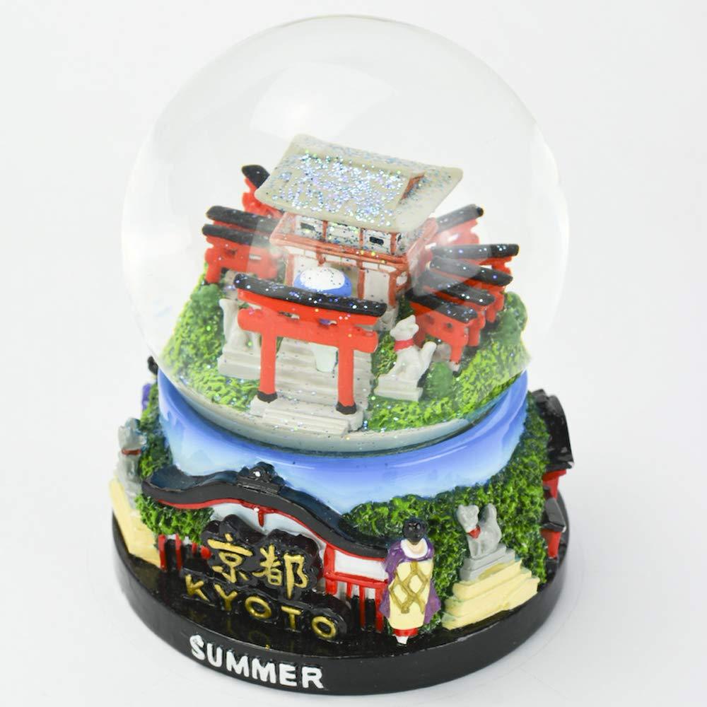 Musubi - Snow Globe Glitter SK0027 (Kyoto Summer), 3.5'' Tall
