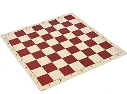 """Fores Wholesale Chess Wholesale Chess 20/"""" Tournament Vinyl Roll-Up Chess Board"""