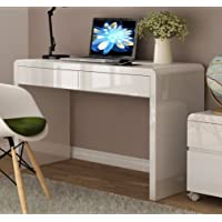 White High Gloss Home Office Desk