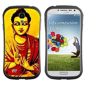 Hybrid Anti-Shock Bumper Case for Samsung Galaxy S4 / Thai God Buddha