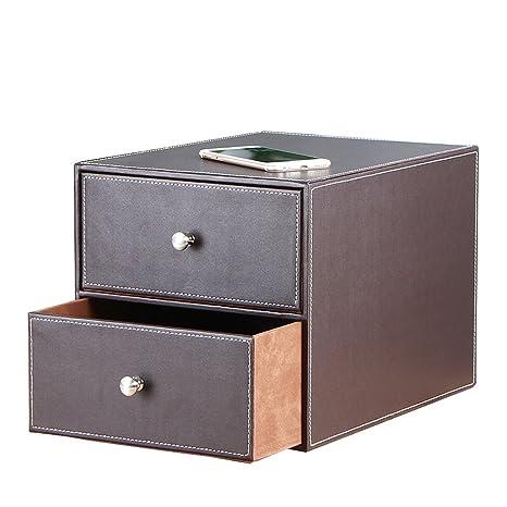 yapishi piel sintética 3 cajones mueble archivador/suministros de oficina/organizador de joyas caja