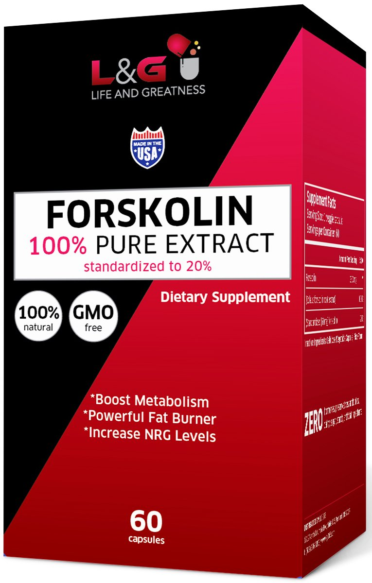 Active Forskolin Extract for Weight Loss Diet Pills & Belly Fat Supplement - Slim Fast with Best Daily Appetite Suppressant, Carb Blocker & Fat Burner for Women and Men - 500mg/d