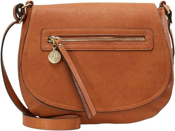 Anna Field Sac à bandoulière pour femme Petit sac à bandoulière élégant avec poche zippée sur le devant Pochette à bandoulière long pour femme