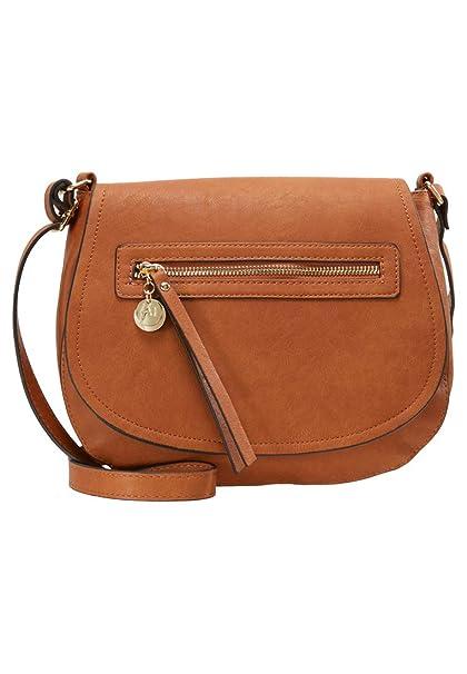 b11e92ceda Anna Field borsa a tracolla da donna - Elegante borsa con tasca frontale  con zip -