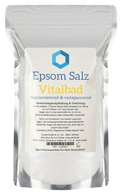 Epsom Salz Vitalbad–Sales de Epsom originales – magnesio,