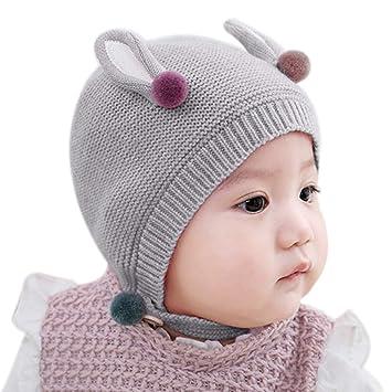 Kentop Sombrero de Punto Lindo Tejer Caliente Cap Gorros para Niñas y Niños bebé,42-46cm: Amazon.es: Hogar