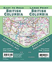 British Columbia Large Print / Yukon, Canada Province Map