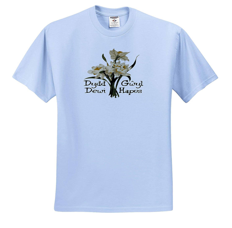 Dydd Gwyl Dewi Hapus or Happy St Davids Day St Davids Day 3dRose Taiche Vector Design T-Shirts
